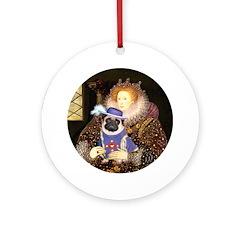Queen-Sir Pug (17) Ornament (Round)