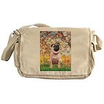 Spring / Pug Messenger Bag