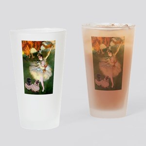 Dancer / 2 Pugs Drinking Glass