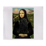 Mona Lisa /Puli Throw Blanket