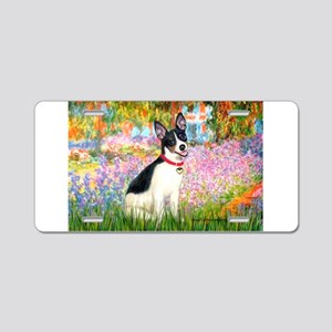 Garden / Rat Terrier Aluminum License Plate