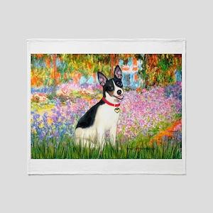 Garden / Rat Terrier Throw Blanket