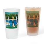 Sailboats / Rat Terrier Drinking Glass