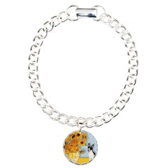 Sunflowers / Rat Terrier Bracelet