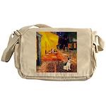 Cafe / Rat Terrier Messenger Bag