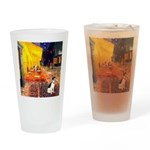 Cafe / Rat Terrier Drinking Glass
