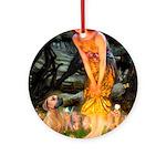 Mideve / Rho Ridgeback Ornament (Round)