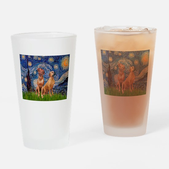 Starry / Rhodesian Ridgeback Drinking Glass
