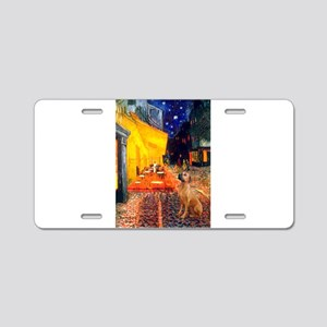 Cafe / Rhodesian Ridgeback Aluminum License Plate