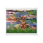 Lilies / R Ridgeback Throw Blanket