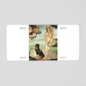 Venus & Rottweiler Aluminum License Plate
