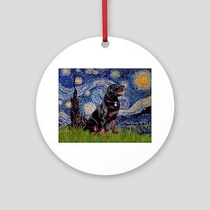 Starry/Rottweiler (#6) Ornament (Round)