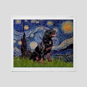 Starry/Rottweiler (#6) Throw Blanket