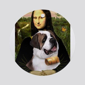 Mona / Saint Bernard Ornament (Round)