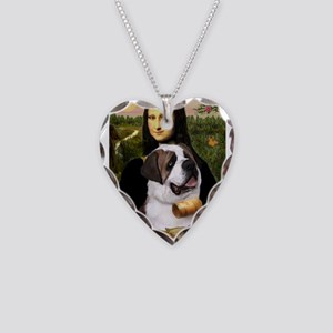 Mona / Saint Bernard Necklace Heart Charm
