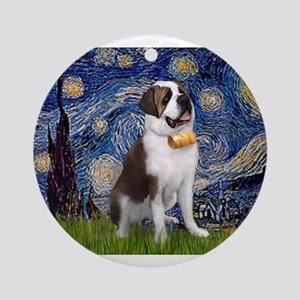 Starry / Saint Bernard Ornament (Round)