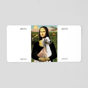 Mona Lisa (new) & Saluki Aluminum License Plate