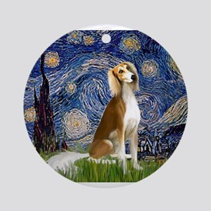 Starry Night / Saluki Ornament (Round)