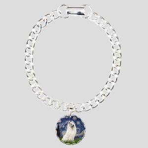 Starry / Samoyed Charm Bracelet, One Charm