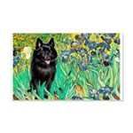 Irises / Schipperke #2 20x12 Wall Decal