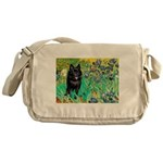 Irises / Schipperke #2 Messenger Bag