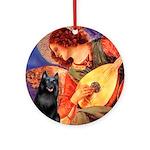 Mandolin / Schipperke #5 Ornament (Round)
