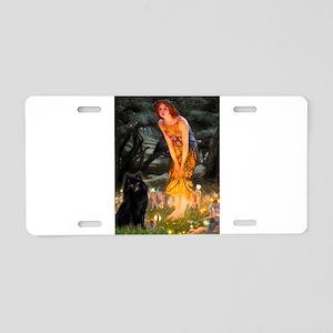 Fairies & Schipperke Aluminum License Plate
