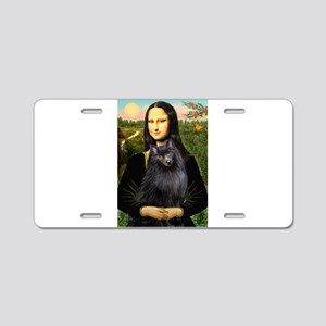 Mona / Schipperke Aluminum License Plate