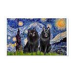 Starry Night & Schipperke 20x12 Wall Decal