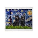 Starry Night & Schipperke Throw Blanket