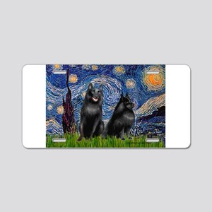 Starry / Schipperke Pair Aluminum License Plate