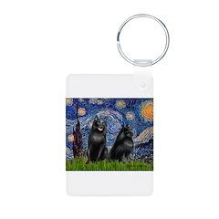 Starry / Schipperke Pair Keychains