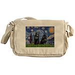 Starry / Schipperke Pair Messenger Bag