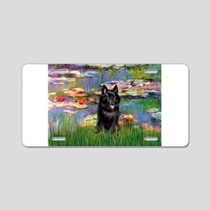 Lilies / Schipperke #4 Aluminum License Plate