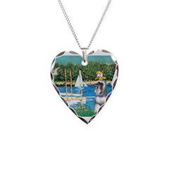 Sailboats /Min Schnauzer Necklace