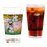 Garden / Miniature Schnauzer Drinking Glass