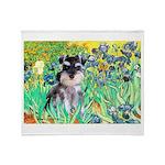 Irises / Miniature Schnauzer Throw Blanket