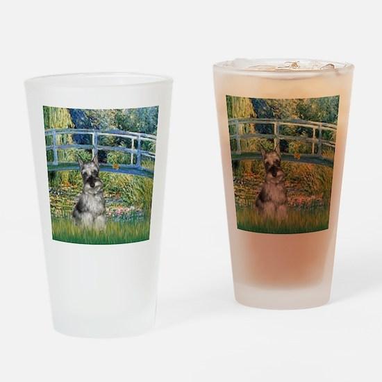 Bridge / Miniature Schnauzer Drinking Glass