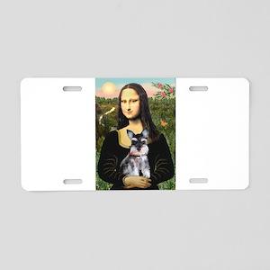Mona Lisa's Schnauzer Puppy Aluminum License Plate