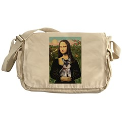 Mona Lisa's Schnauzer Puppy Messenger Bag