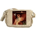 Angel / Min Schnauzer Messenger Bag