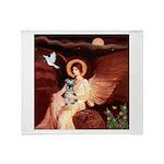Angel / Min Schnauzer Throw Blanket