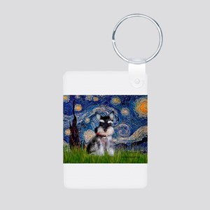 Starry / Schnauzer Aluminum Photo Keychain
