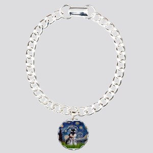 Starry / Schnauzer Charm Bracelet, One Charm