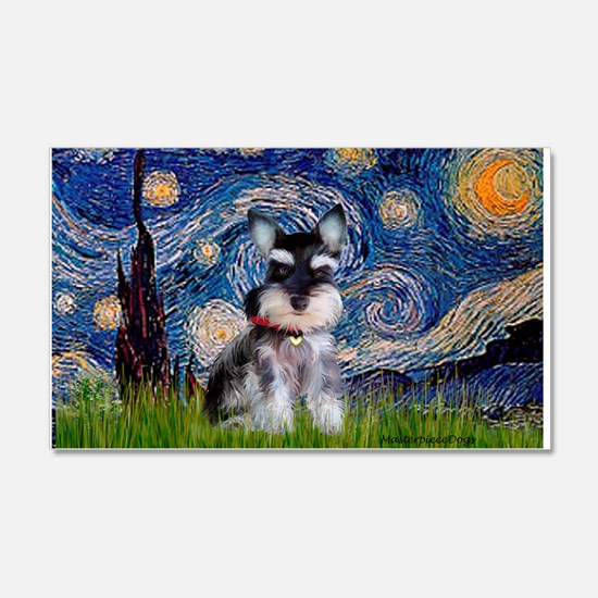 Starry / Schnauzer Wall Decal
