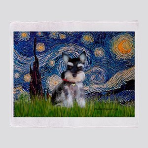Starry / Schnauzer Throw Blanket