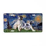 Starry Night / Min Schnauzer Aluminum License Plat