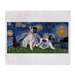 Starry Night / Min Schnauzer Throw Blanket