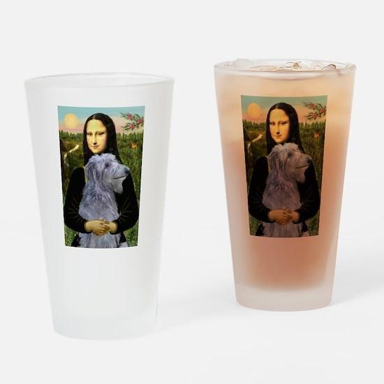 Mona /Scot Deerhound Drinking Glass