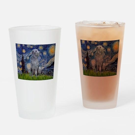 Starry /Scot Deerhound Drinking Glass
